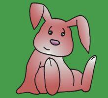 Red Bunny Rabbit One Piece - Short Sleeve