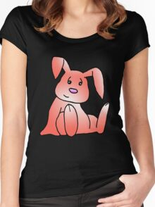 Red Bunny Rabbit Women's Fitted Scoop T-Shirt