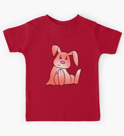 Red Bunny Rabbit Kids Tee