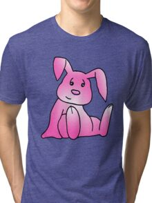 Pink Bunny Rabbit Tri-blend T-Shirt