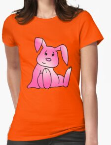 Pink Bunny Rabbit Womens Fitted T-Shirt