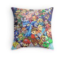 Super Smash Club of Nintendo Players  Throw Pillow