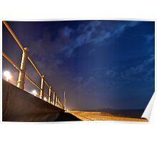 Hastings Beach at Night Poster