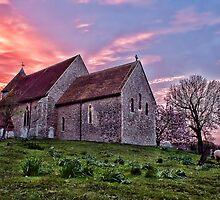 Bilsington Church At Sunset by Dave Godden