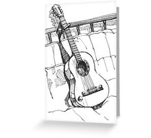 The Guitar Greeting Card