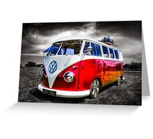 Classic VW Camper Van Greeting Card