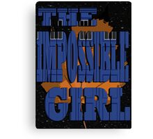 The Impossible Girl Canvas Print