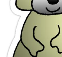 Yellow Raccoon Sticker