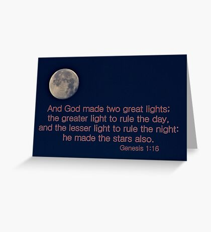 God Made Two Great Lights Greeting Card