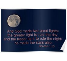 God Made Two Great Lights Poster