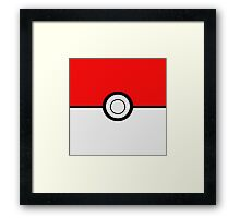 Pokemon Ball Framed Print