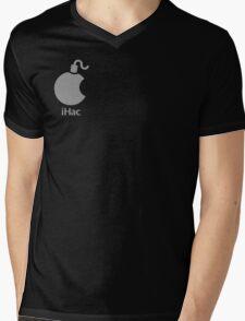 iHac(k) - White Artwork Mens V-Neck T-Shirt