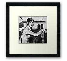 Tristeza Andaluza - after Julio Romero de Torres. Framed Print