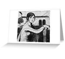Tristeza Andaluza - after Julio Romero de Torres. Greeting Card