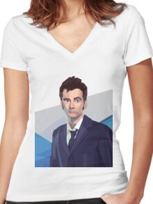 Dr 10 fragged Women's Fitted V-Neck T-Shirt