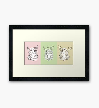 Trophy Wives Collective Framed Print