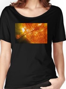 The Sun, Solar Prominince detail, solar flare, space Women's Relaxed Fit T-Shirt