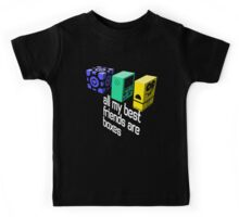All My Best Friends Are Boxes Kids Tee