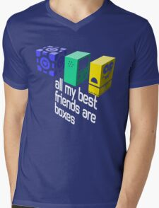 All My Best Friends Are Boxes Mens V-Neck T-Shirt