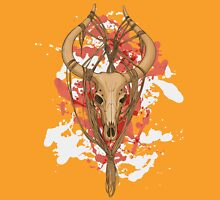 colorful image of animal skull with horns in graphic style decorated with ropes Unisex T-Shirt