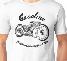 Gasoline Scooters & Motorcycles Line Drawing Unisex T-Shirt
