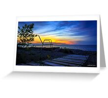 First Sunset Greeting Card