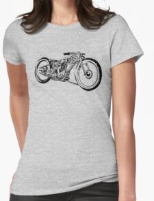 Motorcycle Line Drawing Womens Fitted T-Shirt