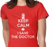 I save the Doctor Womens Fitted T-Shirt