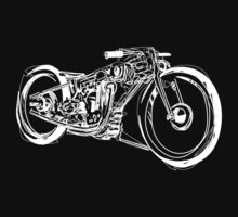Motorcycle Line Drawing by GASOLINE DESIGN