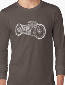 Motorcycle Line Drawing Long Sleeve T-Shirt