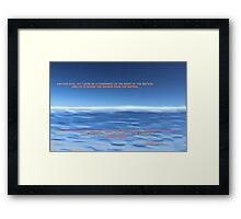 God Divided the Waters Framed Print