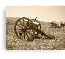 Cannons on the Battlefield Canvas Print