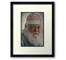 Santa in the Off Season! Framed Print
