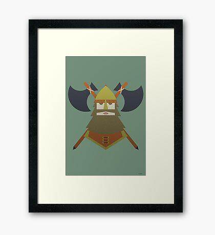 Hornless Viking Framed Print