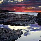 Sunset on Lake Superior by DArthurBrown