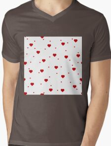 Simply Hearts Mens V-Neck T-Shirt