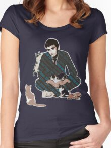 The Doctor and the Attack of Kittens Women's Fitted Scoop T-Shirt