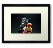 Jedi Duel Framed Print