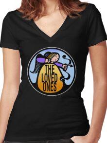 The Loved Ones original drumskin design 1965 Women's Fitted V-Neck T-Shirt
