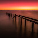 Fading into The Sea Old Jetty at Cleveland Point  by MikeAndrew