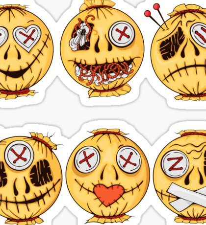 set of colorful halloween-style smiles of horror 4 Sticker