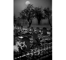 lovers in a graveyard Photographic Print