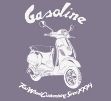 Gasoline Modern Scooter Illustration Kids Tee