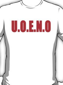 U.O.E.N.O Tee in red T-Shirt