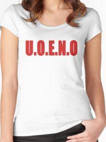 U.O.E.N.O Tee in red Women's Fitted Scoop T-Shirt