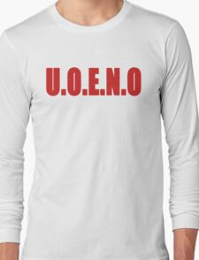 U.O.E.N.O Tee in red Long Sleeve T-Shirt
