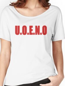 U.O.E.N.O Tee in red Women's Relaxed Fit T-Shirt