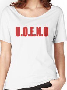 U.O.E.N.O Tee in red Women's Relaxed Fit T-Shirt