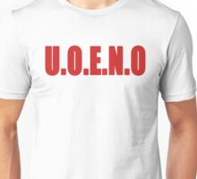 U.O.E.N.O Tee in red Unisex T-Shirt
