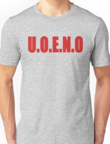 U.O.E.N.O Tee in red Unisex T-Shirt